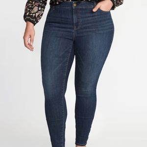 NWT Old Navy sz 26W Long High Rise Skinny Jeans!
